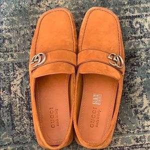 Gucci Men's Suede Drivers Shoes / Loafers